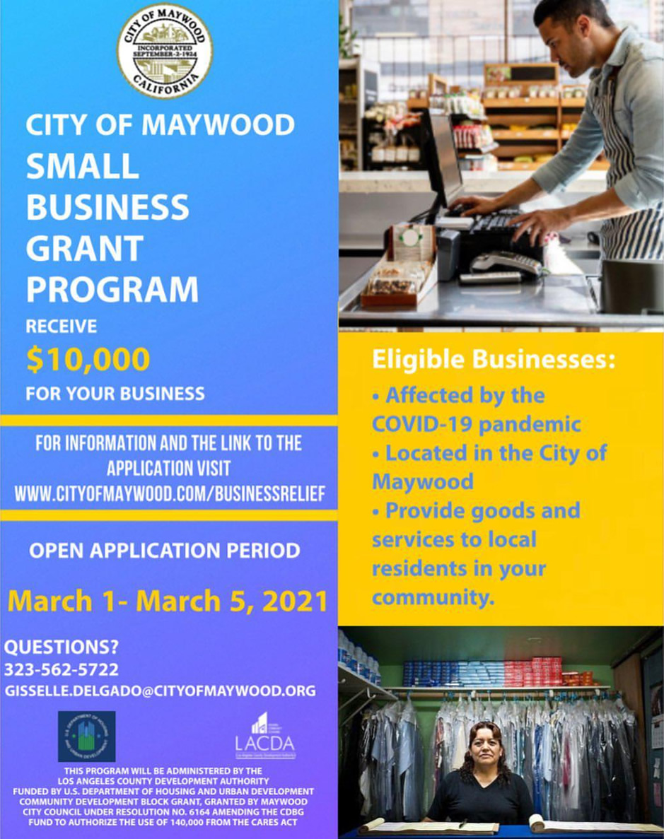 Maywood small business grant program