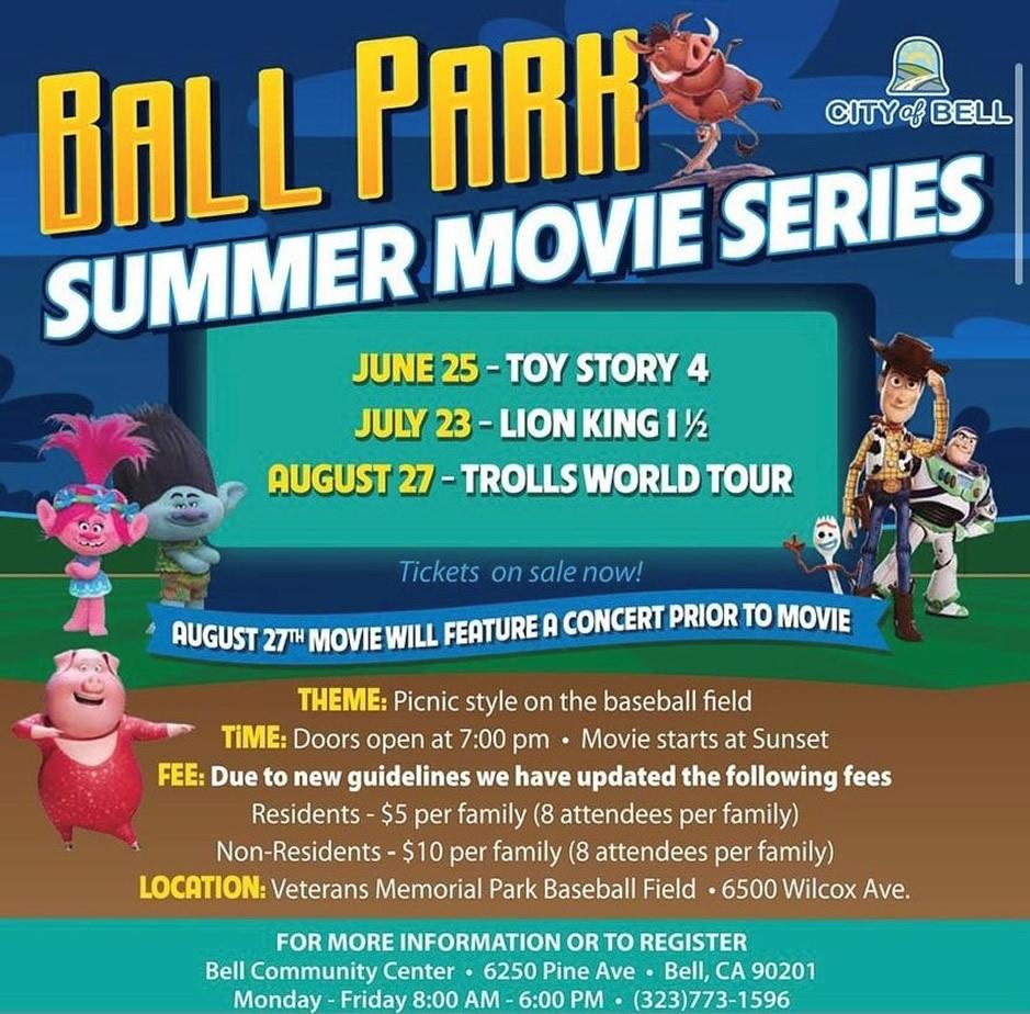 Ball Park Summer Music Series flyer