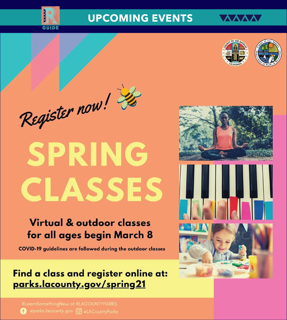 Spring classes - virtual and outdoor