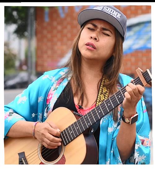 Arianna 'Lady' Basco performs