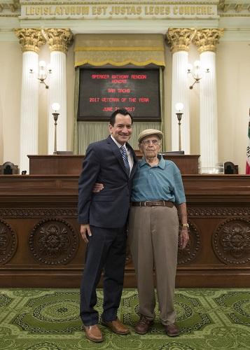 Assemblymember Rendon and Sam Sachs