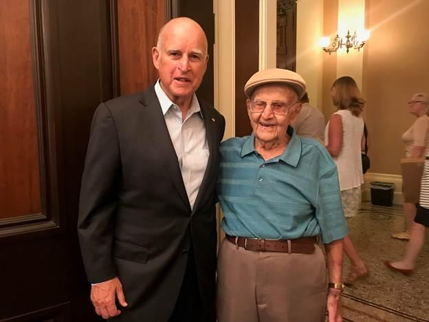 Sam Sachs with Governor Jerry Brown