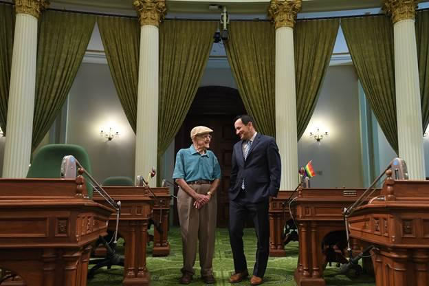 Sam Sachs with Speaker Anthony Rendon