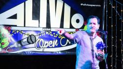 Speaker Anthony Rendon joins Alivio Open Mic stage.