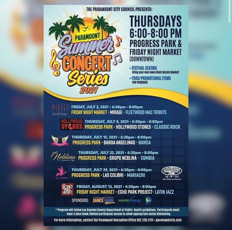 Paramount Summer Concert Series